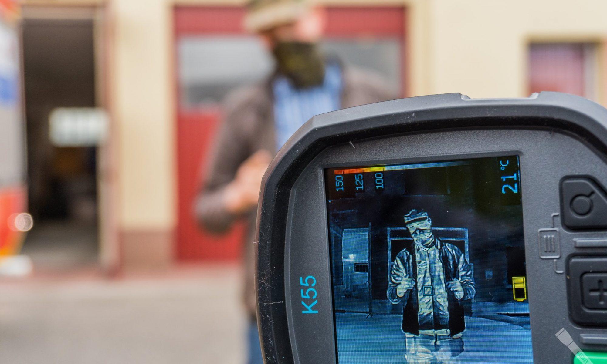 Tak wygląda urbexowicz widziany kamerą termowizyjną :D